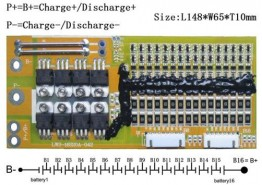59.2V 16S Li-ion Battery Battery Management System