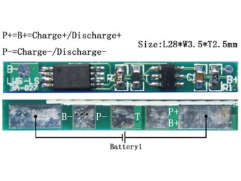 (1S)BMS For 3.7V Li-ion Battery Packs