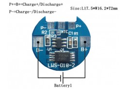3.7V (1S) Li-ion Battery pack management System