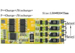 PCM/BMS/PCB For 14.8V(4S) Li-ion Battery Packs