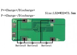 PCM/PCB/BMS For 11.1V(3S) Li-ion Battery Packs